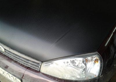 Оклейка капота и багажника 3d карбоном авто Калина