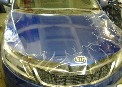 Бронирование капота и тонировка стекол KIA