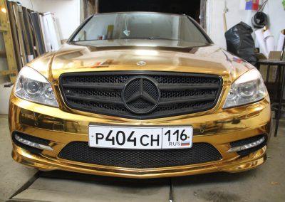 Золотой хром Mercedes C-class