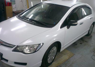 Полная перетяжка белой алмазной крошкой Honda Civic — декабрь 2012