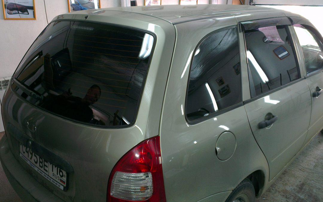 Лада Калина — тонировка стекол автомобиля — апрель 2013