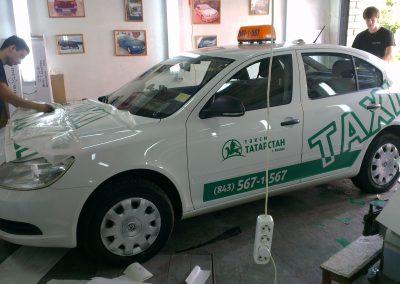 Брендирование автомобилей Skoda, Opel, Chevrolet для ТАКСИ ТАТАРСТАН — сентябрь 2013