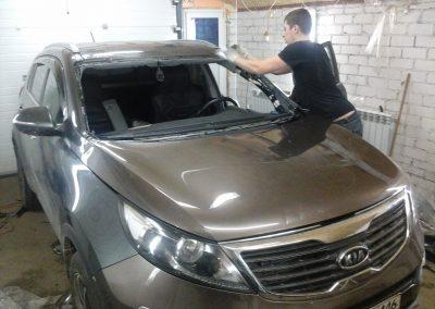 KIA Sportage — замена лобового стекла на авто — октябрь 2013
