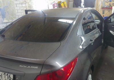 Тонировка автомобиля Hyundai Solaris — март 2014