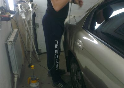 Тонировка стекол автомобиля Kia Spectra — март 2014