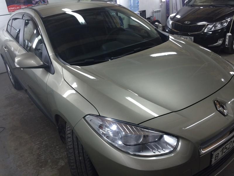 Бронирование кузова автомобиля Renault Fluence — июль 2014