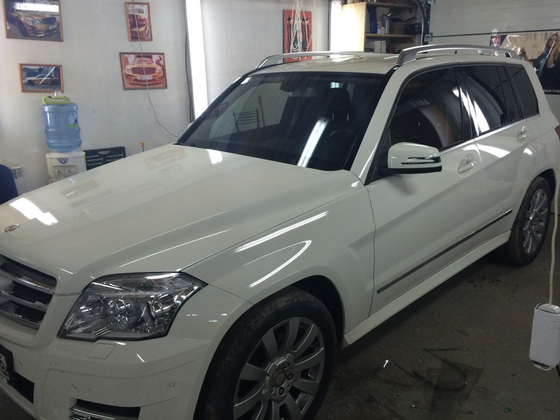 Mercedes-Benz GLK — тонировка стекол авто, август 2014