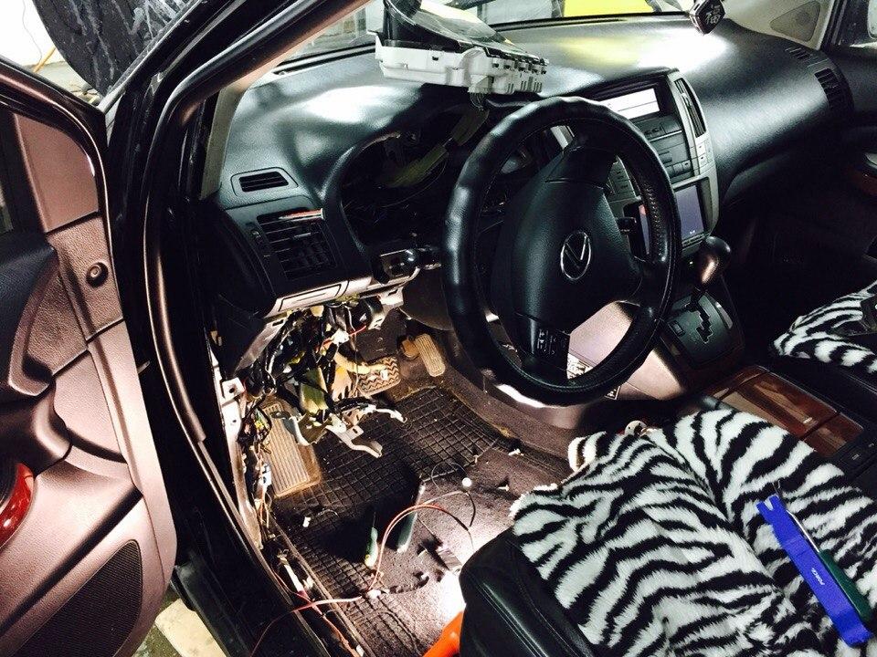 Установка сигнализации Starline A91с автозапуском на Lexus RX 350