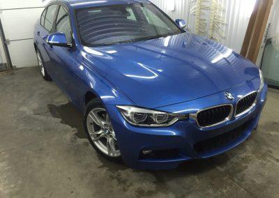 BMW 3 — бронирование кузова полиуретановой пленкой и тонировка стёкол атермальный пленкой Armolan Spektrum 20%, UltraVision 10%
