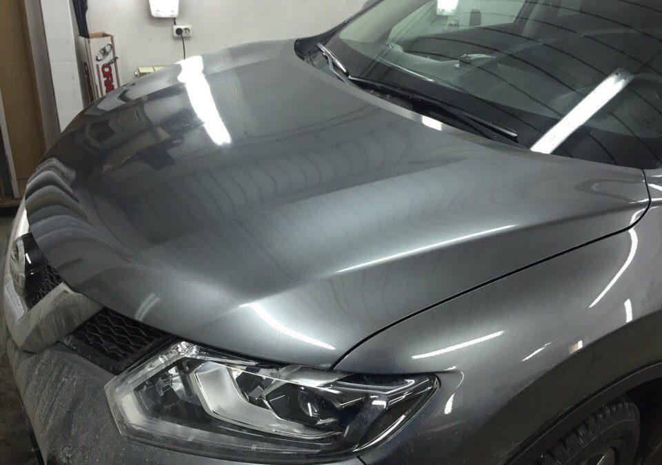 Бронирование капота и зоны погрузки на Nissan X-Trail