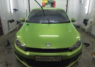 Тонировка лобового стекла пленкой хамелеон 10% Ultra Vision — Volkswagen Scirocco