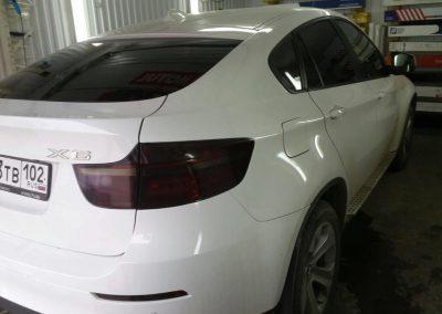 Тонировка задних стёкол пленкой Johnson 95% и тонировка задних фар — BMW X6