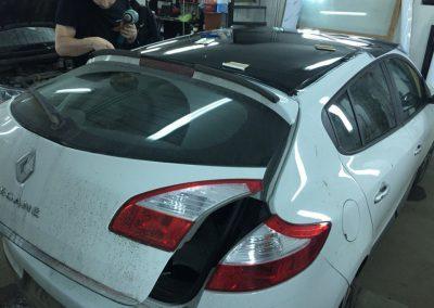 Тонировка задних стёкол 95% пленкой American Standard — Renault Megane 3