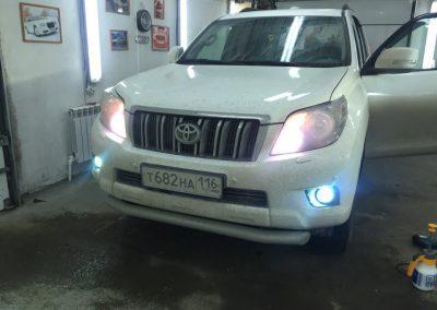 Установка ксенона на противотуманный свет — Toyota Land Cruiser Prado