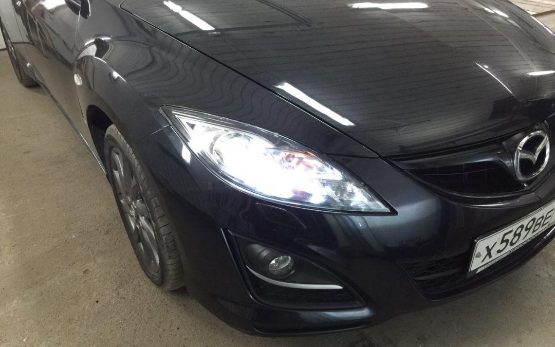 Установка ксенона MaxLight 5000 на фары Mazda 6