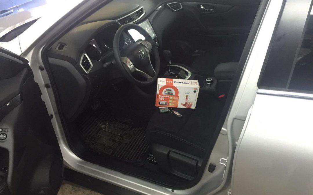 Установка сигнализации с автозапуском Starine A 93 , замена штатной медиа системы и установка камеры заднего вида на Nissan X-Trail