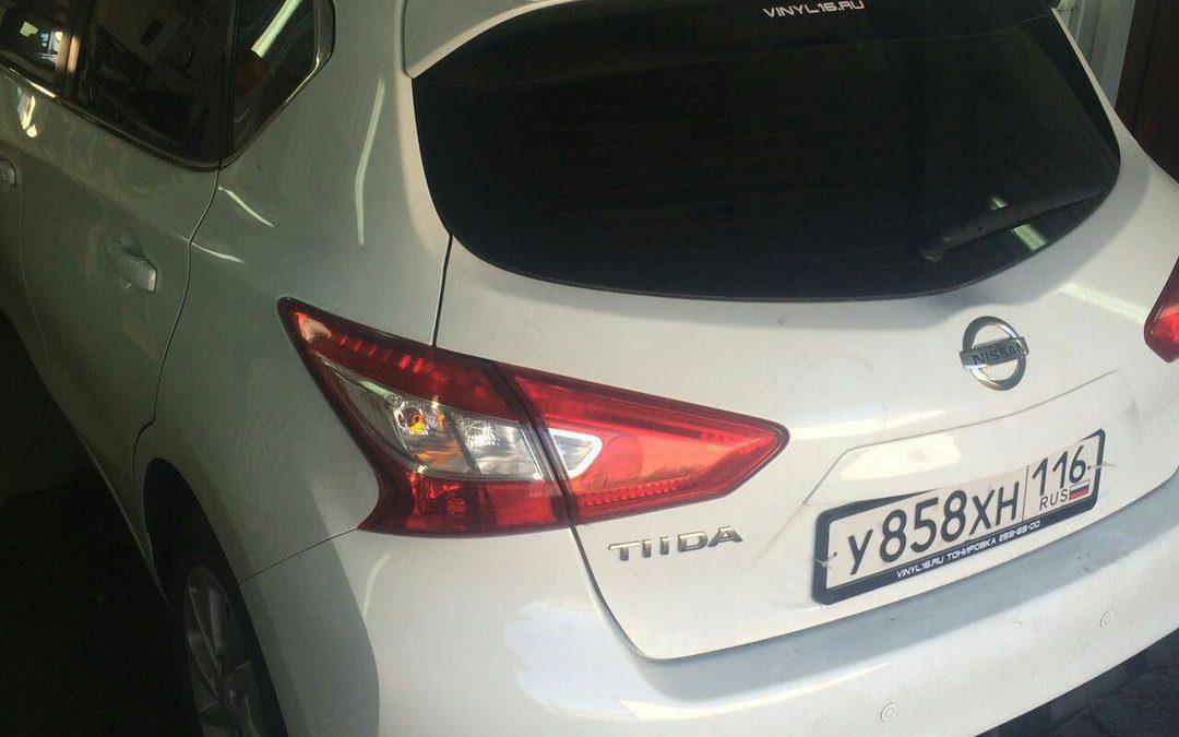 Тонировка задних стёкол пленкой Global 95% — Nissan Tiida