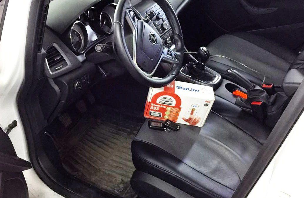 Установка сигнализации с автозапуском StarLine A93 — Opel Astra J