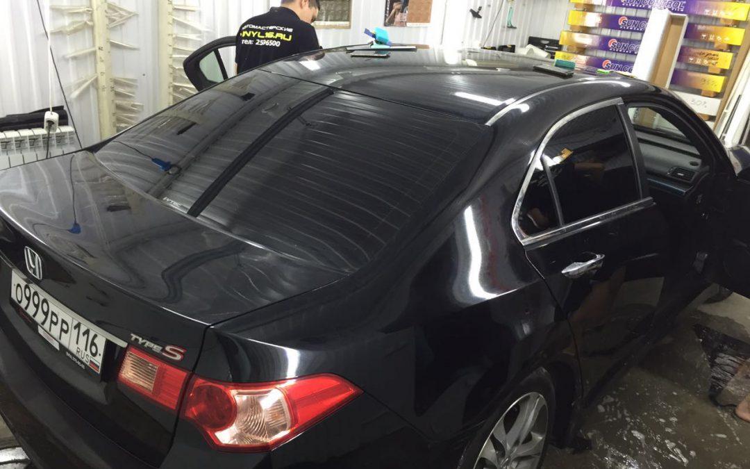 Тонировка задних стёкол пленкой Johnson 95% — Honda Accord