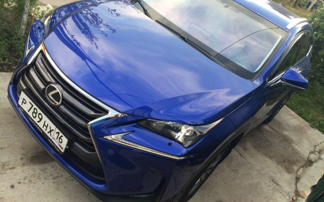 Тонировка передних стёкол пленкой Ultra Vision Mystique light 10% — Lexus NX200