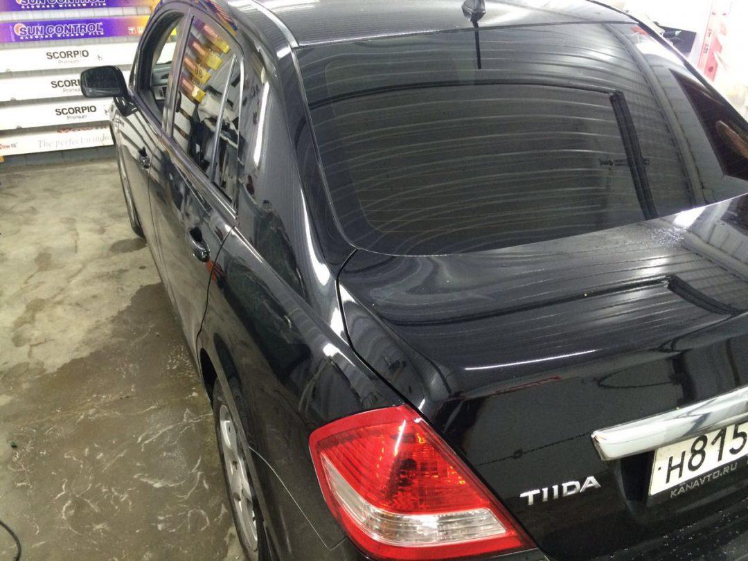 Тонировка задних стёкол пленкой SunControl 95% — Nissan Tiida