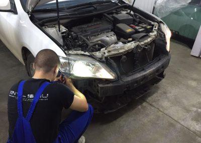 Установка ксенона MaxLight 4300 на головной свет Toyota Camry