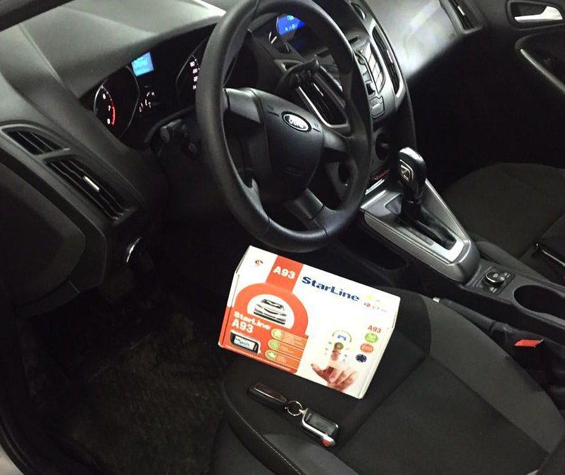 Установка сигнализации с автозапуском StarLine A93 на автомобиль Ford Focus 3