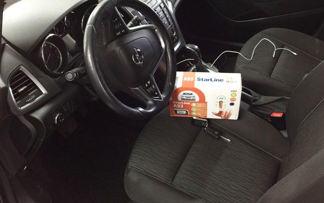 Установка сигнализации с автозапуском StarLine A93 с модулями GSM и GPS на Opel Astra J