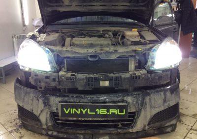 Установка ксенона MaxLight 4300 на фары Opel Astra