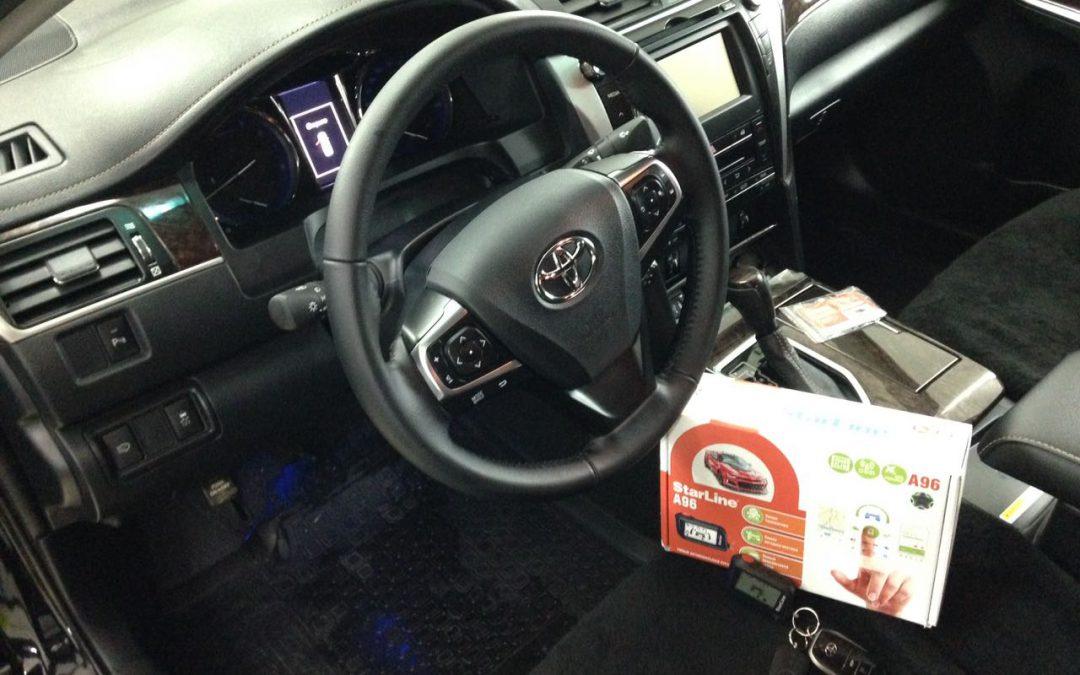 Установка охранно-телематического комплекса StarLine A96 на автомобиль Toyota Camry