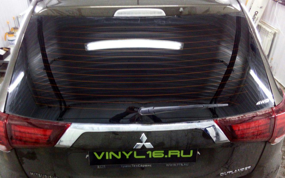 Тонировка задних стёкол пленкой Johnson 95% —  Mitsubishi Outlander