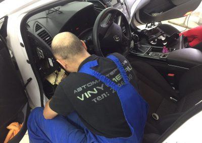 Комплексное бронирование антигравийной плёнкой , установка сигнализации Starline A93 , тонировка задних стёкол плёнкой NDFOS — Hyundai I40