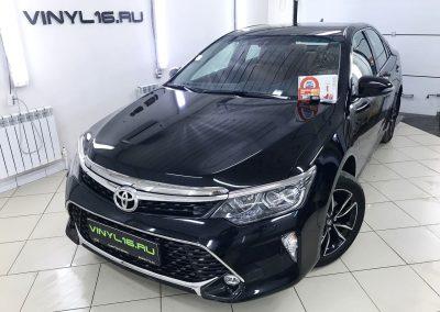 Toyota Camry Exclusive — защита антигравийной плёнкой и установка охранно-телематического комплекса StarLine A93