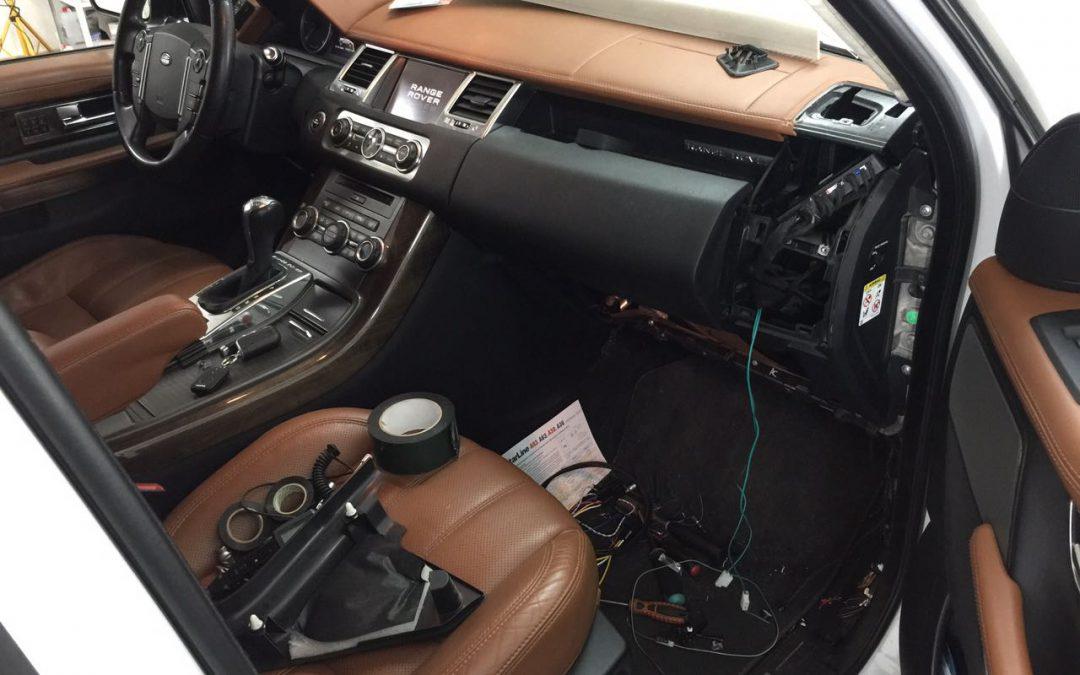 Установка сигнализации с автозапуском StarLine A93 & gsm модуля StarLine M22 — Range Rover Sport