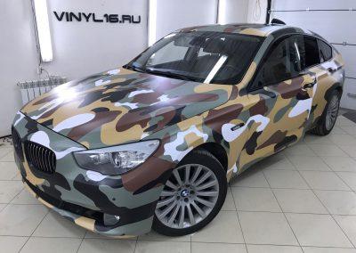 Специалистами компании Vinyl16 был проведен полный комплекс работ по оклейке автомобиля BMW 5 Gran Turismo