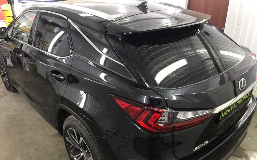 Lexus RX350 — оклейка кузова полиуретановой плёнкой Hexis Bodyfence, установка охранного-телематического комплекса StarLine A93 GSM