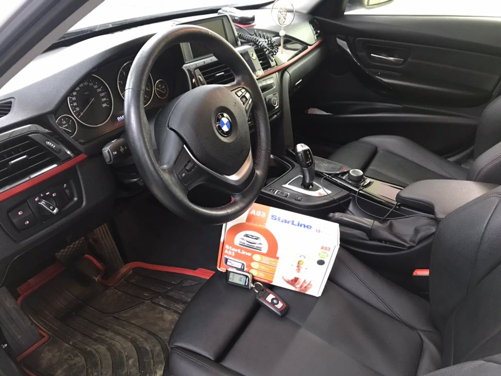 Установка сигнализации Starline A93 на автомобиль BMW 320D