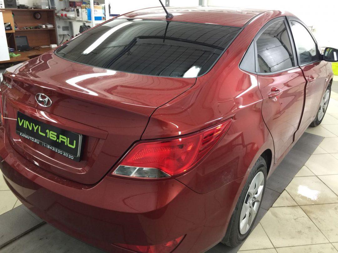 Установка сигнализации Starline A93  и тонировка стёкол плёнкой LLumar 95% — автомобиль Hyundai Solaris
