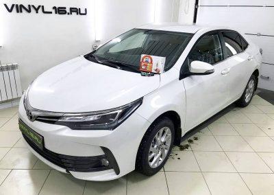 Установка сигнализации Starline A93 и тонировка задних стёкол плёнкой NDFOS 95% — автомобиль Toyota Corolla