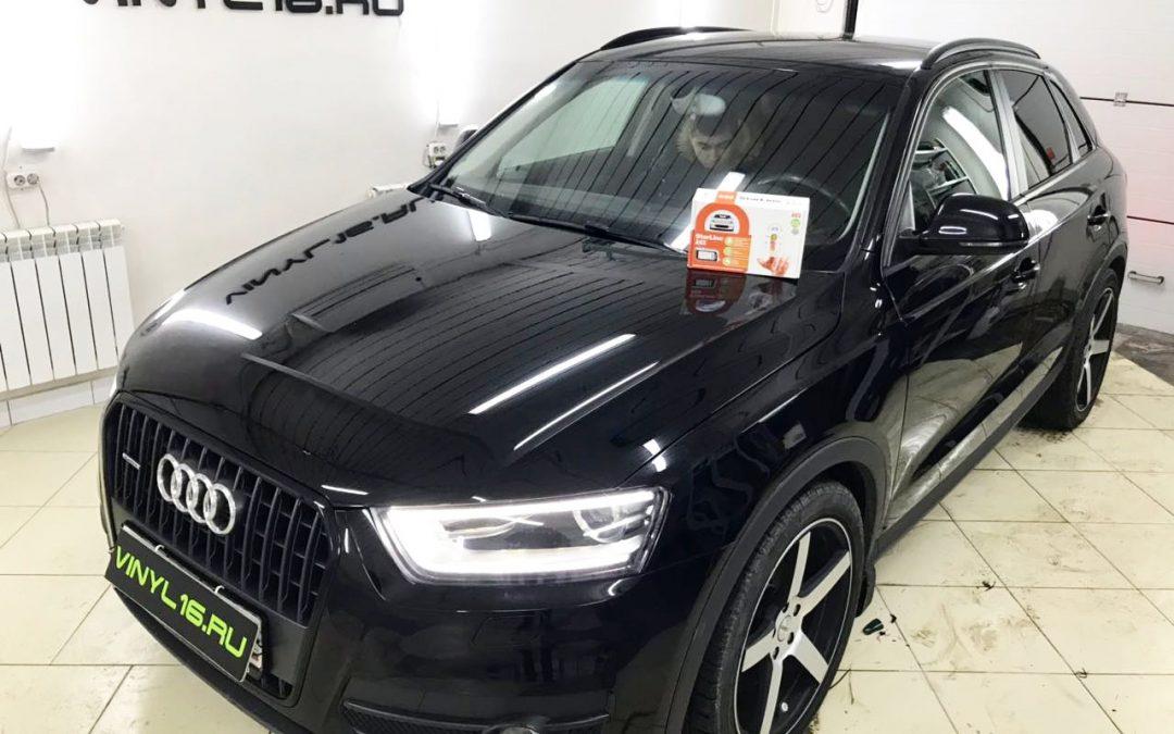 Установка сигнализации Starline A93 , тонировка задних стёкол плёнкой LLumar 95%, тонировка передних стёкол плёнкой UltraVision 20% — автомобиль Audi Q3