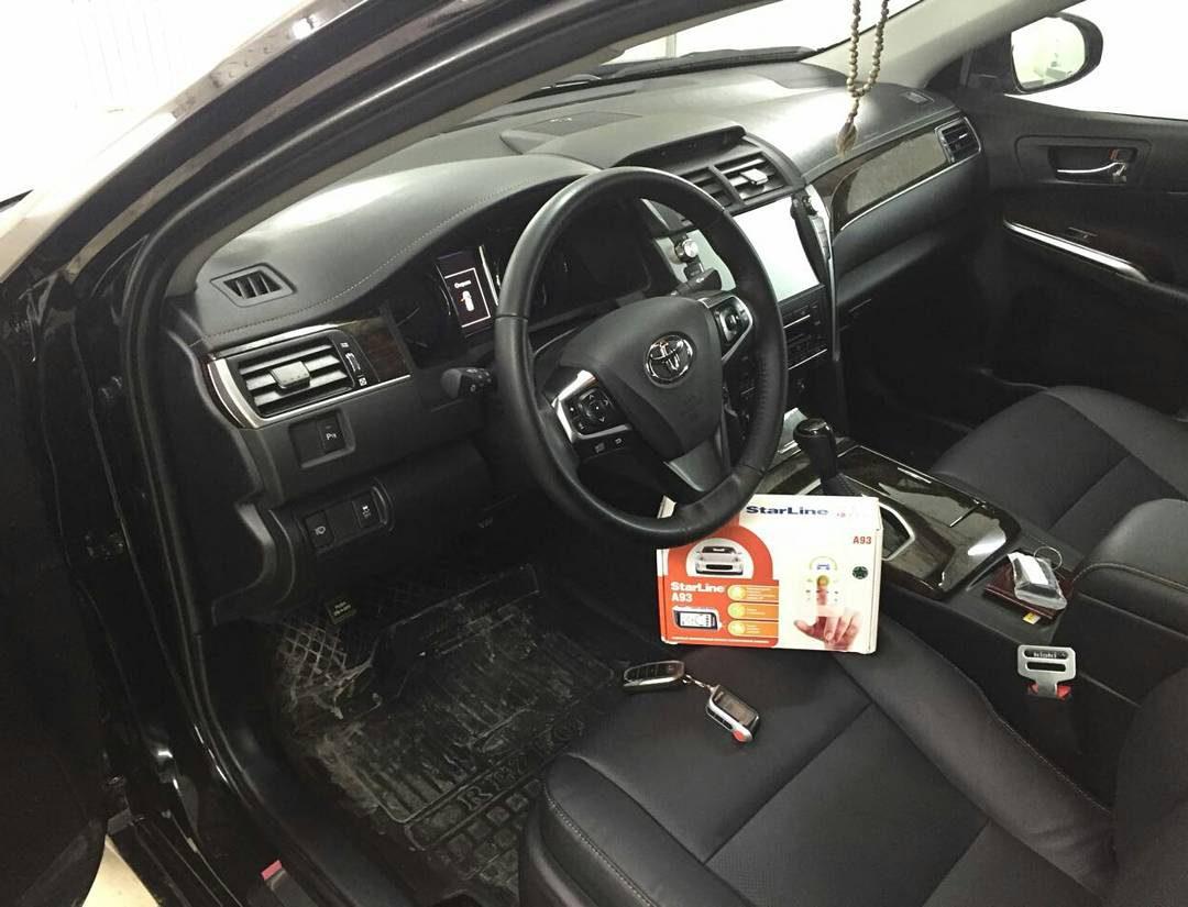 Установка сигнализации Starline A93 GSM/GPS на автомобиль Toyota Camry