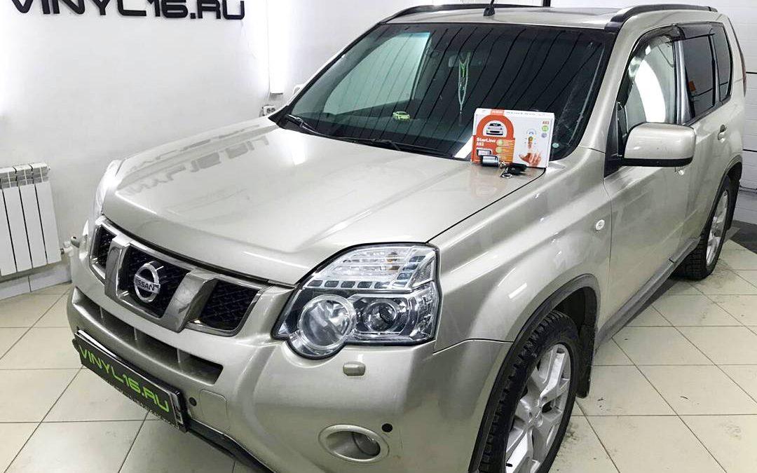 Установка сигнализации Starline A93, тонировка стёкол плёнкой Johnson 95% — автомобиль Nissan X-trail