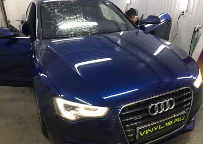 Тонировка стёкол плёнкой SunControl 30% и бронирование порогов антигравийной плёнкой — Audi A5