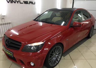Тонировка стёкол автомобиля плёнкой Johnson 95% — Mercedes C180
