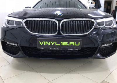 Бронирование антигравийной плёнкой и тонировка стёкол плёнкой Johnson 95% — BMW 520D G30