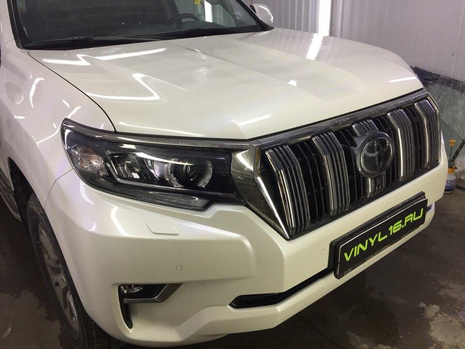Бронирование передней часть полиуретановой пленкой Hexis Bodyfence — Toyota Land Cruiser Prado