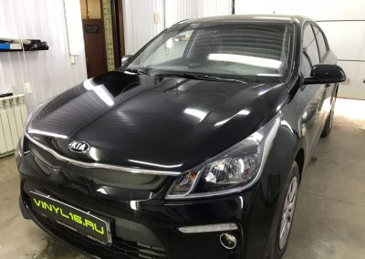 Комплексное бронирование кузова антигравийной пленкой — Kia Rio