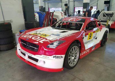 Комплекс работ по оклейке спортивного автомобиля для гонок