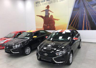 Комплекс работ по оклейке автомобилей символикой FIFA