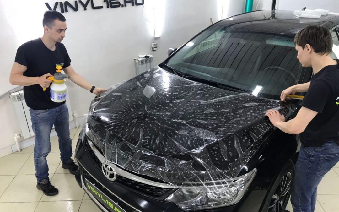 Комплексное бронирование кузова антигравийной пленкой — Toyota Camry